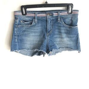 Joe's Jeans Trouser Denim Shorts Sz 26 Ribbon band